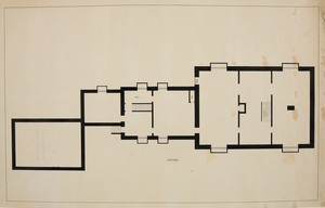 Cellar plan for unidentifed house, location unknown, undated