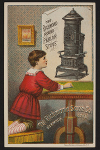 Trade card for The Richmond Round Parlor Stove, The Richmond Stove Co., Norwich Conn., undated