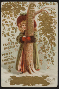 Trade card for Glenwood Ranges & Heaters, C.F. Wing, New Bedford, Mass., undated