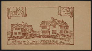 Trade card for Frank Chouteau Brown, architect, No. 9 Mt. Vernon Square, Boston, Mass., December 9, 1926