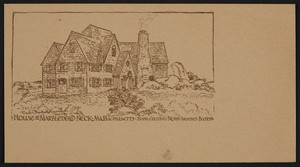 Trade card for Frank Chouteau Brown, architect, Boston, Mass., ca. 1902