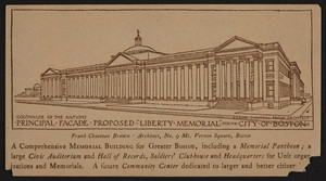 Trade card for Frank Chouteau Brown, architect, No. 9 Mt. Vernon Square, Boston, Mass., January 19, 1919