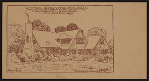 Trade card for Frank Chouteau Brown, architect, No. 9 Mount Vernon Square, Boston, Mass., 192?