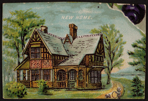 Trade card for New Home, location unknown, undated