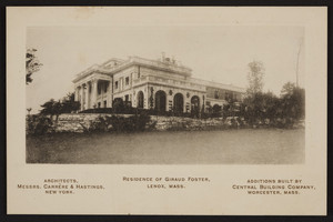 Trade card for Messrs. Carrere & Hastings, architects, New York and Central Building Company, Worcester, Mass., undated