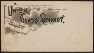 Envelope for Union Glass Company, Somerville, Mass., undated