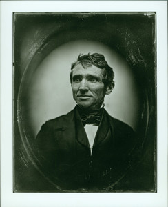 Head-and-shoulders portrait of Charles Goodyear, facing front, looking left, Boston, Mass., undated