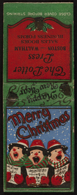 Matchbook for The Potter Press, Boston, Waltham, Mass., undated
