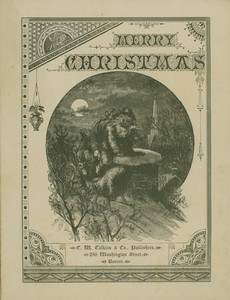 "Covers for ""The holiday guest,"" C.W. Calkins & Co., publishers, 286 Washington Street, Boston, Mass., 1880"