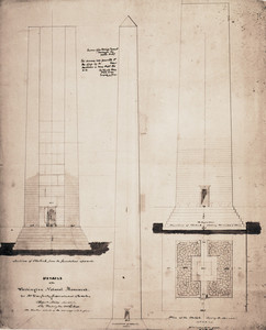 Details of the Washington Monument for Mr. Daugherty, Superintendent of the Work, Washington, D.C., October 24, 1848