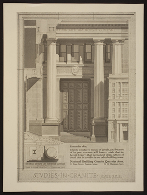 Advertisement for National Building Granite Quarries Assn., 31 State Street, Boston, Mass., undated