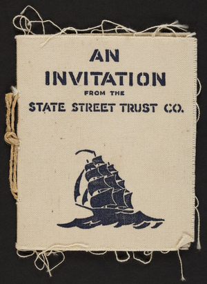 Invitation from the State Street Trust Co., State and Congress Streets, Boston, Mass., undated