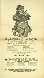Announcement for Hallowe'en at the Tavern Club