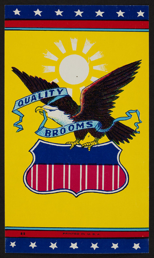 Advertisement for Quality Brooms, location unkown, undated