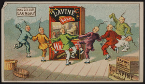 Trade card for Lavine Soap, Hartford Chemical Works, 30 Union Place, Hartford, Connecticut, undated