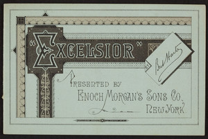 Excelsior, by Bret Harte, Enoch Morgan's Sons Co., 440 West Street, New York, New York, undated