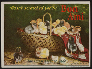 Trade Card for The Bon Ami Company, cleaner, New York, 1907