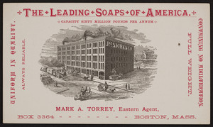Trade card for James S. Kirk & Company, soap, Chicago, Illinois, undated