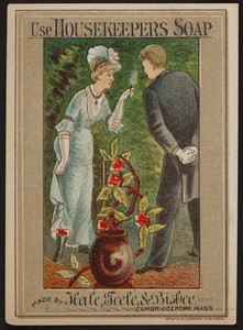 Trade card for Housekeepers Soap, Hale, Teele, & Bisbee, Cambridgeport, Mass., undated