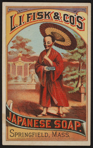 Trade card for L.I Fisk & Co's Japanese Soap, Springfield, Mass., undated