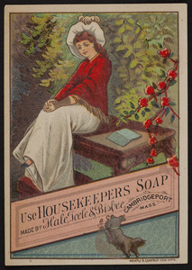 Trade card for Housekeepers Soap, Hale, Teele & Bisbee, Cmabridgeport, Mass., undated