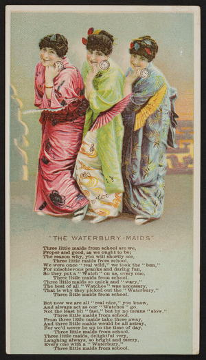 Trade card for the Waterbury Watch, location unknown, undated
