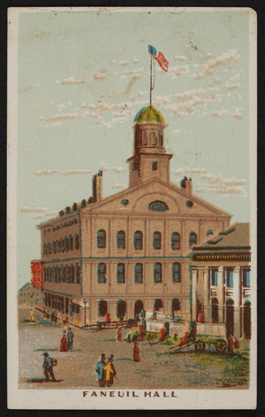 Trade card for The Old South Clothing House, 315 & 317 Washington Street, Boston, Mass., undated