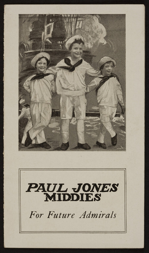 Paul Jones Middies for future admirals, sold by A.L. Foster, Hartford, Connecticut, undated