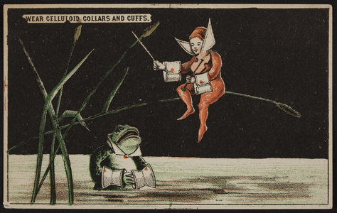 Trade card for celluloid collars, cuffs and shirt bosoms, location unkown, undated