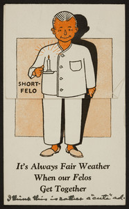 Trade card for the Rogers Peet Company, men's pajamas, Tremont at Bromfield Streets, Boston, Mass. and New York, New York, 1926