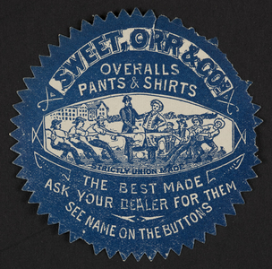 Seal for Sweet, Orr & Co., overalls, pants & shirts, location unknown, undated