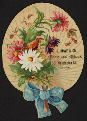 Trade card for B.S. Rowe & Co., boots and shoes, 531 Washington Street, Boston, Mass., undated