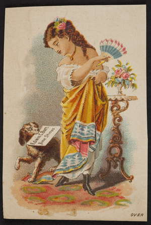 Trade card for Edwin C. Burt, fine shoes, New York, 1879