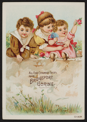 Trade card for Bridgeport Goring, Bridgeport Elastic Web Co., Bridgeport, Connecticut, undated