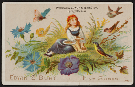 Trade card for Edwin C. Burt, fine shoes, New York, New York, 1881