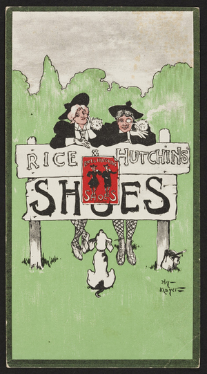 Trade card for Rice & Hutchins, shoes, Boston, Mass., undated