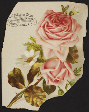 Trade card for Gould's Corset Store, 286 Westminster Street, Providence, Rhode Island, undated