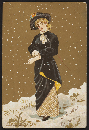 Trade card for ladies' gloves, location unknown, undated