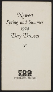 Newest spring and summer 1924 Day Dresses, Eastman Bros. & A. Bancroft, Portland, Maine, 1924