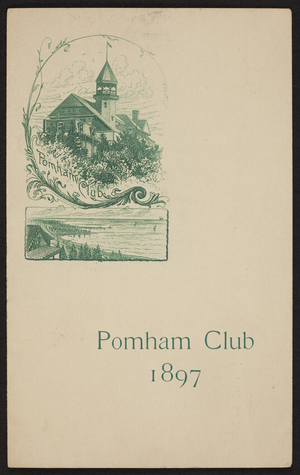 Menu for the Pomham Club Meeting, location unknown, August 3, 1897