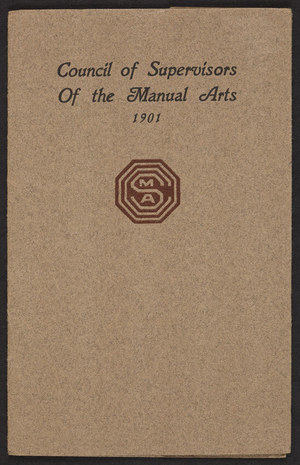 Council of Supervisors of the Manual Arts, location unkown, 1901