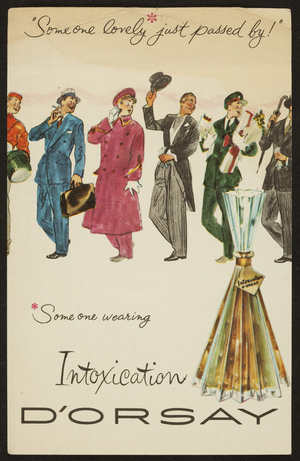 Leaflet for D'Orsay's Intoxication, S.S. Pierce Co., 133 Brookline Ave, Boston, Mass. undated
