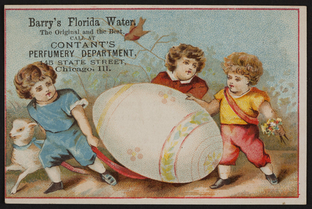 Trade card for Barry's Florida Water, location unknown, undated