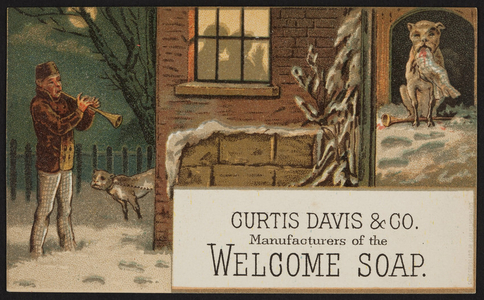 Trade cards for Welcome Soap, Curtis Davis & Co., location unknown, 1877