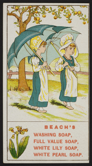 Trade card for Beach's Soap, location unknown, undated