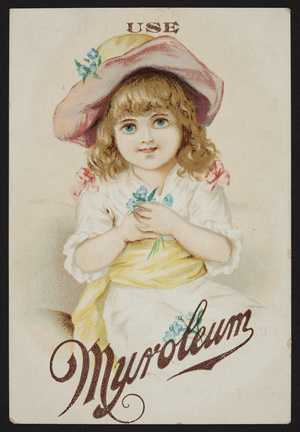 Trade card for Myroleum Soap, The Barney Co., 283 Franklin Street, Boston, Mass., undated