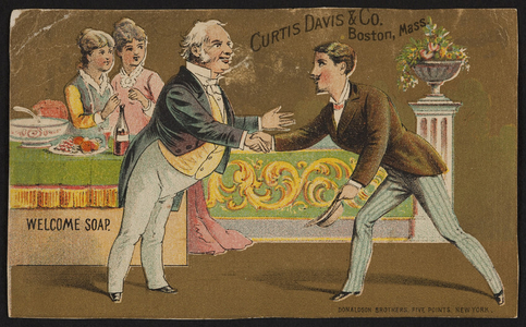 Trade card for Welcome Soap, Curtis Davis & Co., Boston, Mass., undated