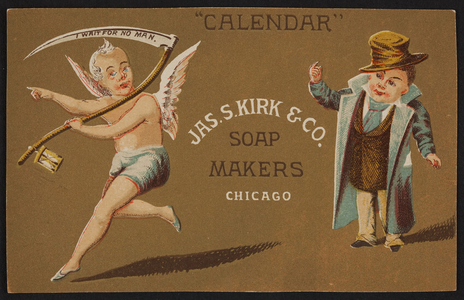 Trade card for Jas S. Kirk & Co., soap makers, Chicago, Illinois, undated