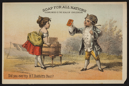 Trade card for Babbitt's Best Soap, B.T. Babbitt, New York, New York, undated