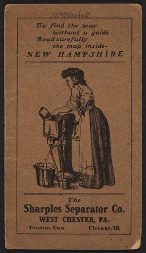 Brochure for The Sharples Tubular Cream Separator, West Chester, Pennsylvania, Chicago, Illinois, Toronto, Canada, undated